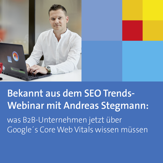 Andreas Stegmann, mi connect, SEO Trends Webinar, Google's Core Web Vitals